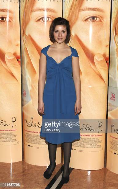 Maria Valverde during 'Melissa P' Promotional Photocall February 23 2006 at Acteon Cinemas in Madrid Spain