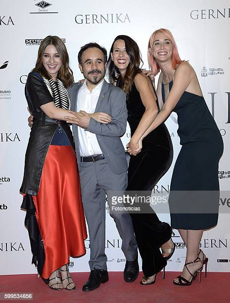 Maria Valverde Koldo Serra Barbara Goenaga and Ingrid GarciaJonsson attend the 'Gernika' premiere at Palafox cinema on September 5 2016 in Madrid...