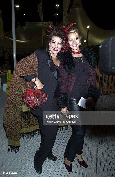 Maria Venuti and her daughter Bianca Venuti arrive for the opening night of the Cirque du Soleil production of 'Alegria' under the Grand Chapiteau at...