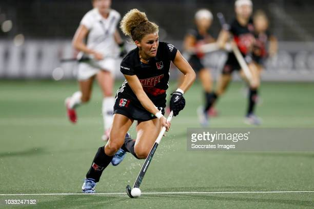 Maria Verschoor of Amsterdam Dames 1 during the Hoofdklasse Women match between Amsterdam v Pinoke at the Wagener Stadium on September 14 2018 in...
