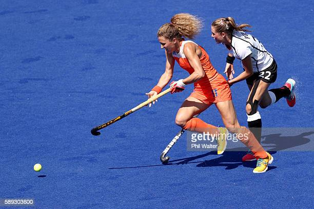 Maria Verschoor of the Netherlands in action in the Women's Pool A match between Germany and the Netherlands on Day 8 of the Rio 2016 Olympic Games...