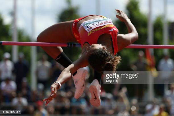 Maria Vicente of Spain competes during Heptathlon Women High Jump on July 18 2019 in Boras Sweden