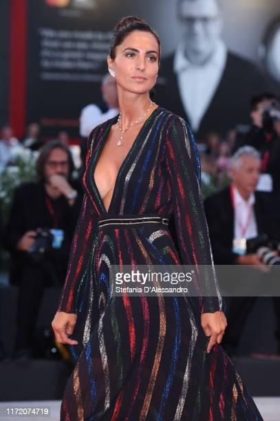 Maria Vittoria Paolillo walks the red carpet ahead of the Om Det Oandliga screening during the 76th Venice Film Festival at Sala Grande on September...
