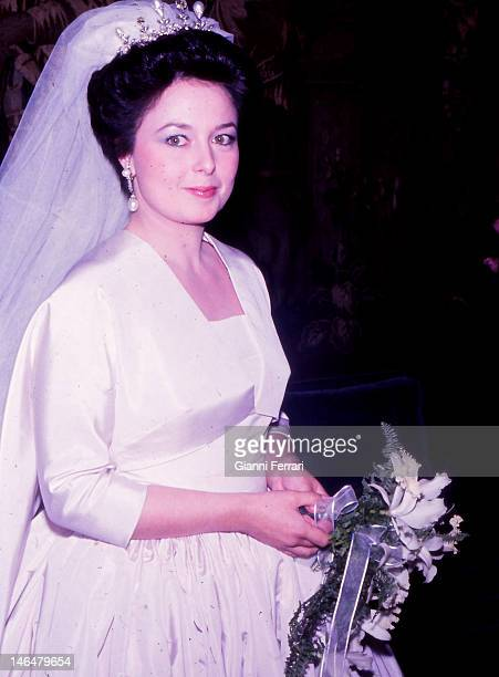 Maria Vladimirovna daughter of Grand Duke Vladimir Kirillovich Romanov head of the Russian imperial dynasty the day of her wedding with Prince...