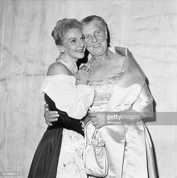 Maria Von Trapp and Mary Martin at Opening Night
