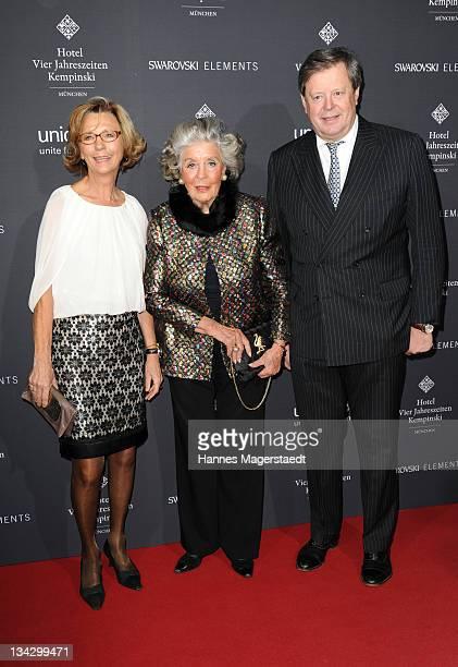 Maria von Welser , Marianne zu Sayn-Wittgenstein-Sayn and her son Peter zu Sayn-Wittgenstein-Sayn attend Celebrities Read For UNICEF Charity Event at...
