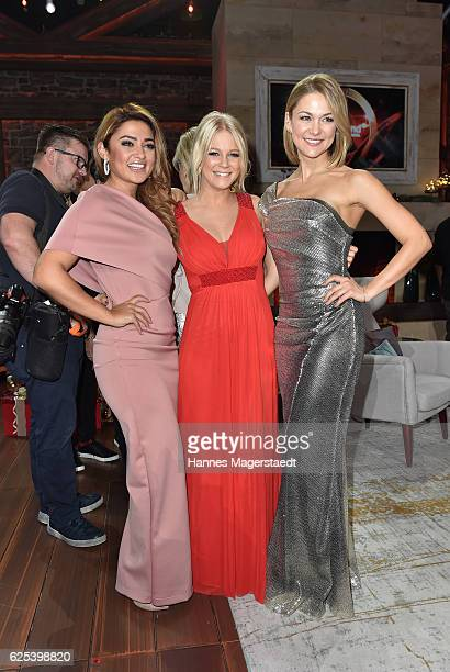 Maria Voskania Julia Lindholm and Linda Hesse during the tv show 'Heiligabend mit Carmen Nebel' on November 23 2016 in Munich Germany The show will...