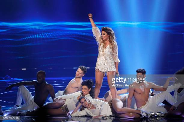 Maria Voskania performs during the finals of the tv competition 'Deutschland sucht den Superstar' at Coloneum on May 6 2017 in Cologne Germany
