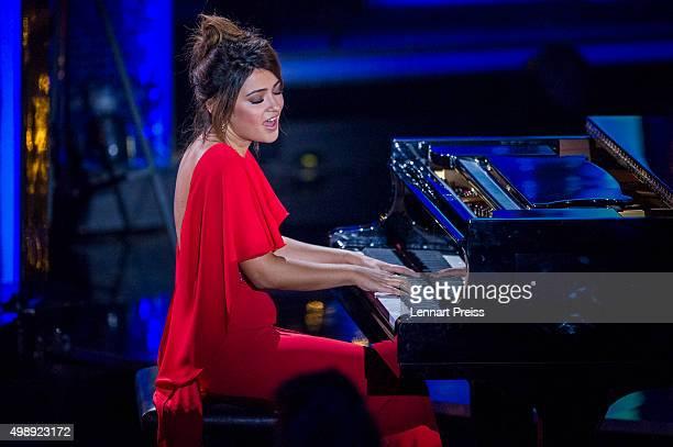 Maria Voskania performs during the 'Heiligabend mit Carmen Nebel' TV show at Bavaria Filmstudios on November 26 2015 in Munich Germany