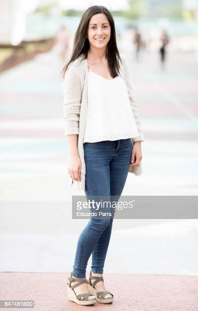 Maria wears a Hollister jacket Pull Bear trousers Hollister shirt Parfois handbag and Oysho shoes during the Mercedes Benz Fashion Week Spring/Summer...