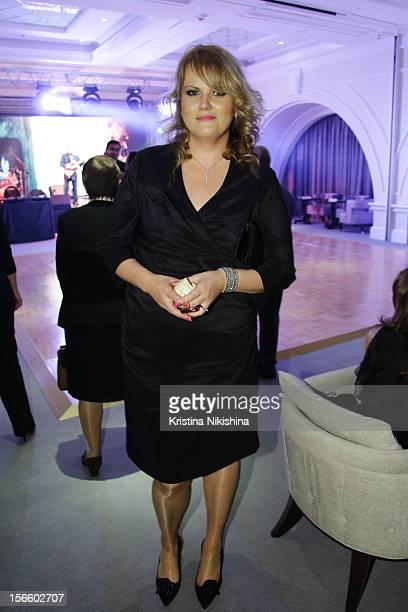 Maria Webster arrives at the launch of the Four Seasons Hotel Baku on November 17 2012 in Baku Azerbaijan