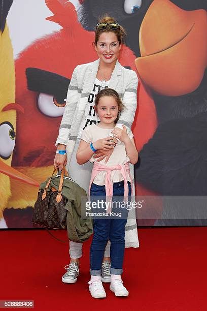 Maria Wedig and Leni Wedig attend the 'Angry Birds - Der Film' Premiere on May 1, 2016 in Berlin, Germany.