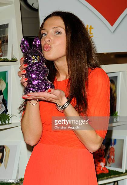 Maria Wedig attends Easter Bunny Charity Auction at Billstedt Shopping Centre on April 3, 2012 in Hamburg, Germany.