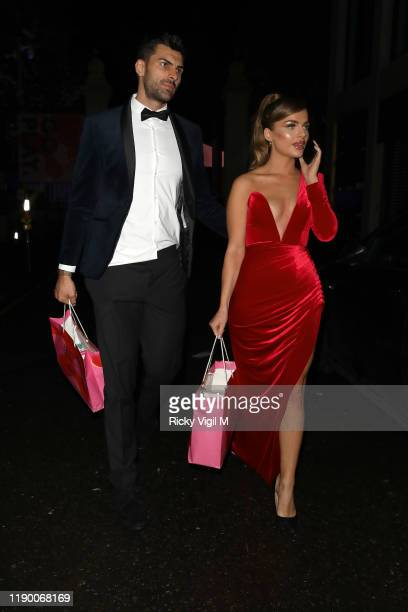 Maria Wild seen leaving The Beauty Awards 2019 with ASOS held at City Central at the HAC on November 25 2019 in London England