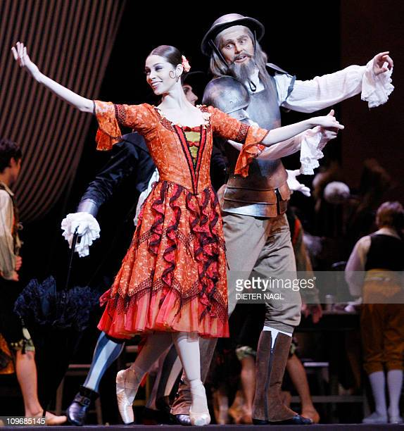 STORY Maria Yakovleva and Thomas Mayerhofer dance during the general rehearsal for the ballett Don Quixote at the state opera on February 25 2011 in...