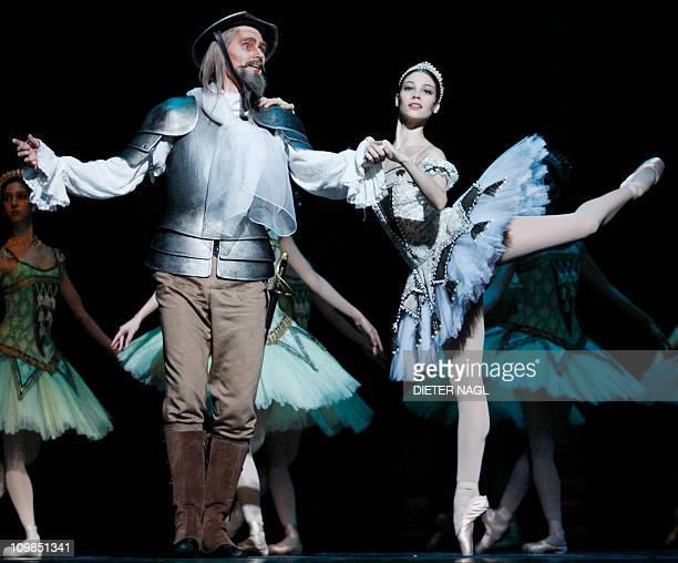STORY Maria Yakovleva and Thomas Mayerhofer dance during the general rehearsal for the ballet Don Quixote at the state opera on February 25 2011 in...