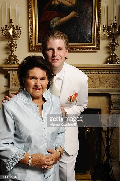 RATES Maria Zelnickoba and Eric Trump pose during the wedding of Ivana Trump and Rossano Rubicondi at the MaraLago Club on April 12 2008 in Palm...