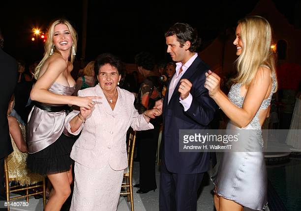 Maria Zelnickoba dances with grand daughter Ivanka Trump grandson Donald Trump Jr and wife Vannessa Trump during the Drinks Dinner and Disco Party...
