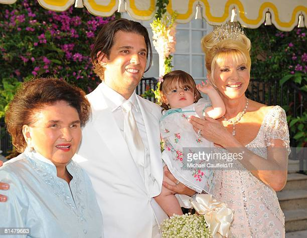 Maria Zelnickoba Donald Trump Jr Kai Trump and Ivana Trump at the wedding of Ivana Trump and Rossano Rubicondi at the MaraLago Club on April 12 2008...