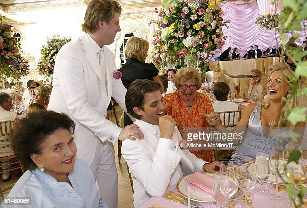 RATES Maria Zelnickoba Eric Trump Dr Ruth Westheimer and Vanessa Trump during the wedding reception of Ivana Trump and Rossano Rubicondi at the...