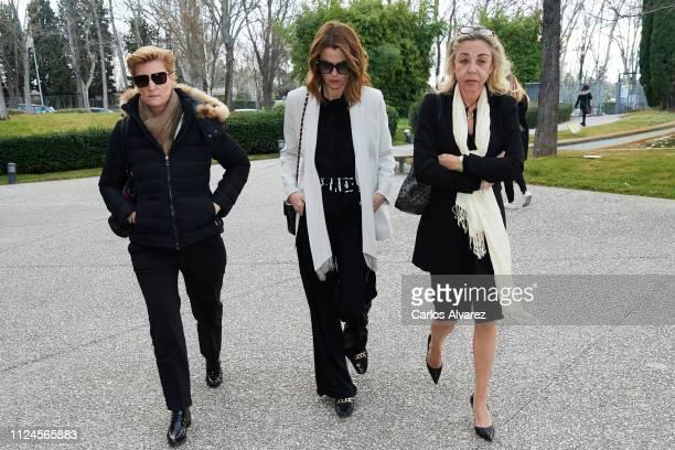 Maria Zurita Alejandra Rojas and Maria Escudero attend the Elio Berhanyer Funeral Chapel at Museo del Traje on January 24 2019 in Madrid Spain