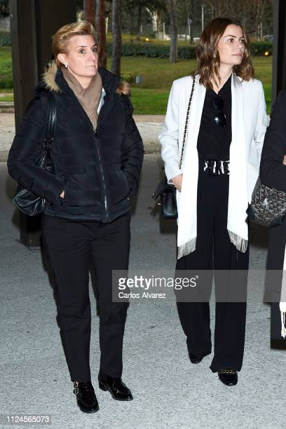 Maria Zurita and Alejandra Rojas attend the Elio Berhanyer Funeral Chapel at Museo del Traje on January 24 2019 in Madrid Spain