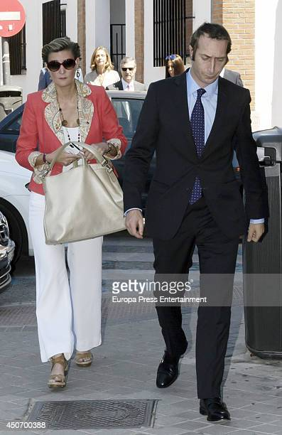 Maria Zurita and Alfonso Zurita attend First Communion of Bruno Gomez Acebo and Barbara Cano's son on June 14 2014 in Madrid Spain