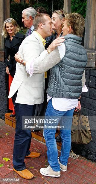 Maria Zurita and Alfonso Zurita attend Maria Zurita's 40 birthday on September 16 2015 in Madrid Spain