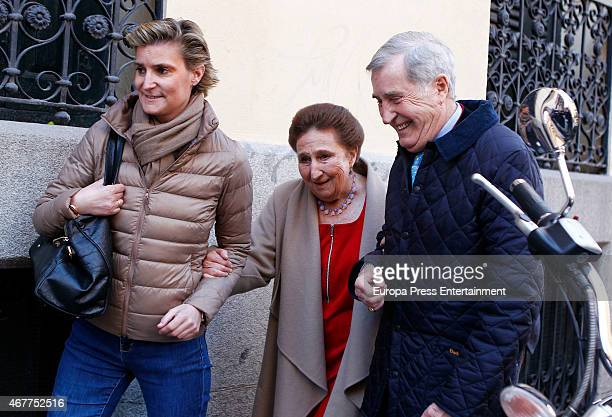 Maria Zurita attends her mother Princess Margarita's 76th birthday on March 06 2015 in Madrid Spain