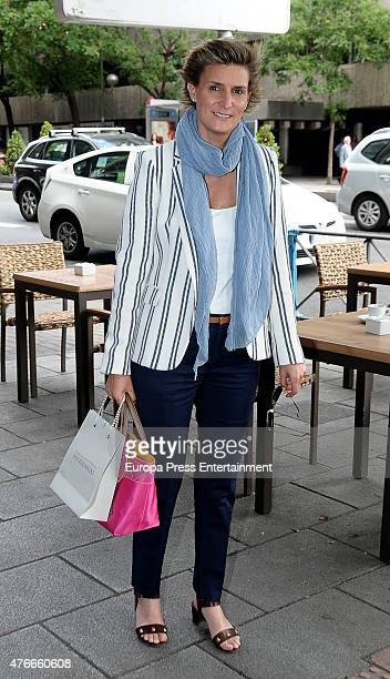 Maria Zurita attends the babyshower party of Gemma RuizCuadrado on June 10 2015 in Madrid Spain