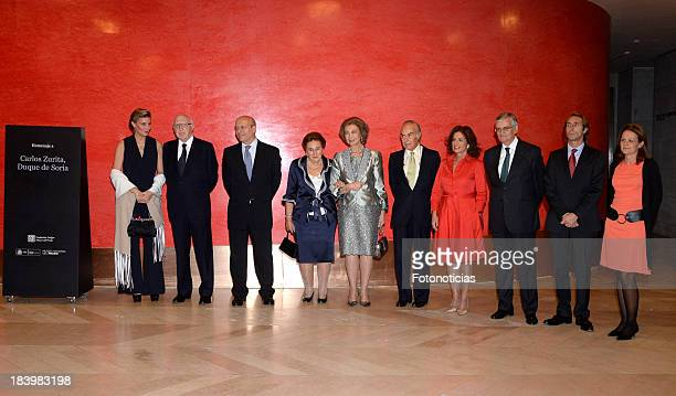 Maria Zurita guest Minister Juan Ignacio Wert Princess Margarita de Borbon Queen Sofia of Spain Carlos Zurita Ana Botella guest and Alfonso Zurita...
