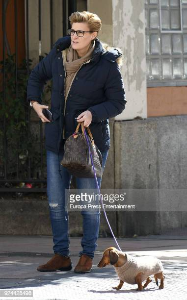 Maria Zurita is seen on February 23 2018 in Madrid Spain