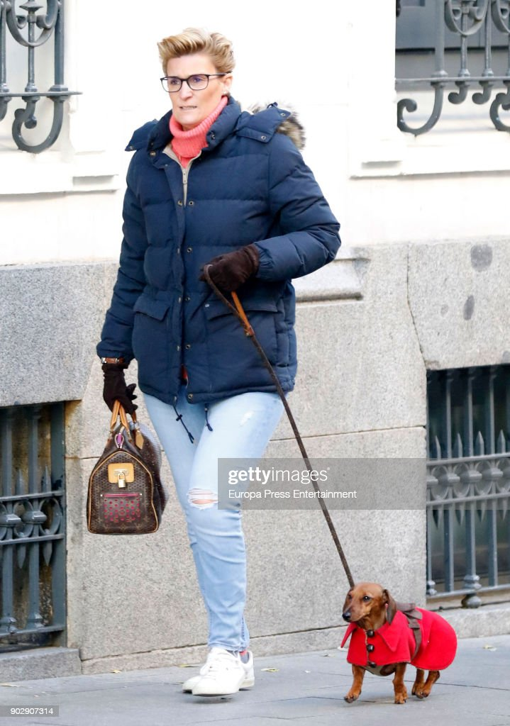 Celebrities Sighting In Madrid - December 17, 2017 : News Photo