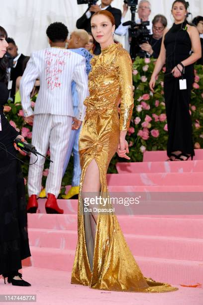 Mariacarla Boscono attends The 2019 Met Gala Celebrating Camp: Notes on Fashion at Metropolitan Museum of Art on May 06, 2019 in New York City.