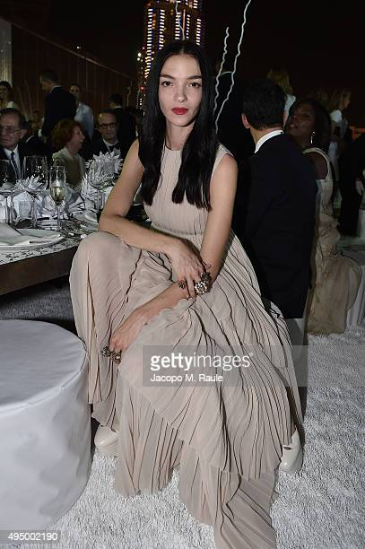 Mariacarla Boscono attends the Gala event during the Vogue Fashion Dubai Experience 2015 at Armani Hotel Dubai on October 30, 2015 in Dubai, United...