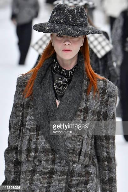 Mariacarla Boscono walks the runway during the Chanel Ready to Wear fashion show as part of the Paris Fashion Week Womenswear Fall/Winter 2019/2020...