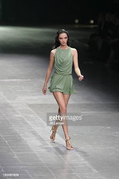 Mariacarla Boscono wearing Alexander McQueen Spring/Summer 2006