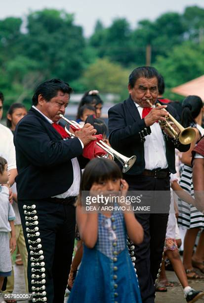 Mariachi at the Festival of the Birth of the Blessed Virgin Mary Sotuta Yucatan Mexico