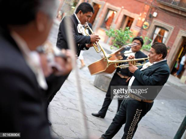 Mariachi Band Playing on Street in San Miguel de Allende