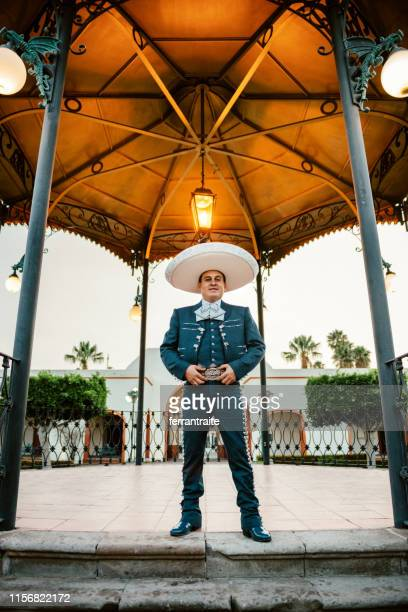 mariachi band playing - mexican hat stock pictures, royalty-free photos & images