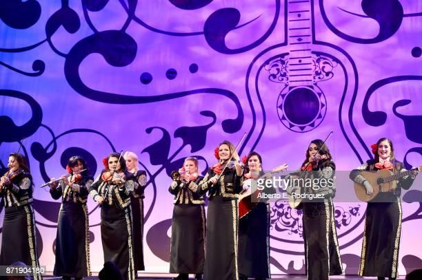 Mariachi Divas perform at the US Premiere of DisneyPixar's 'Coco' at the El Capitan Theatre on November 8 in Hollywood California