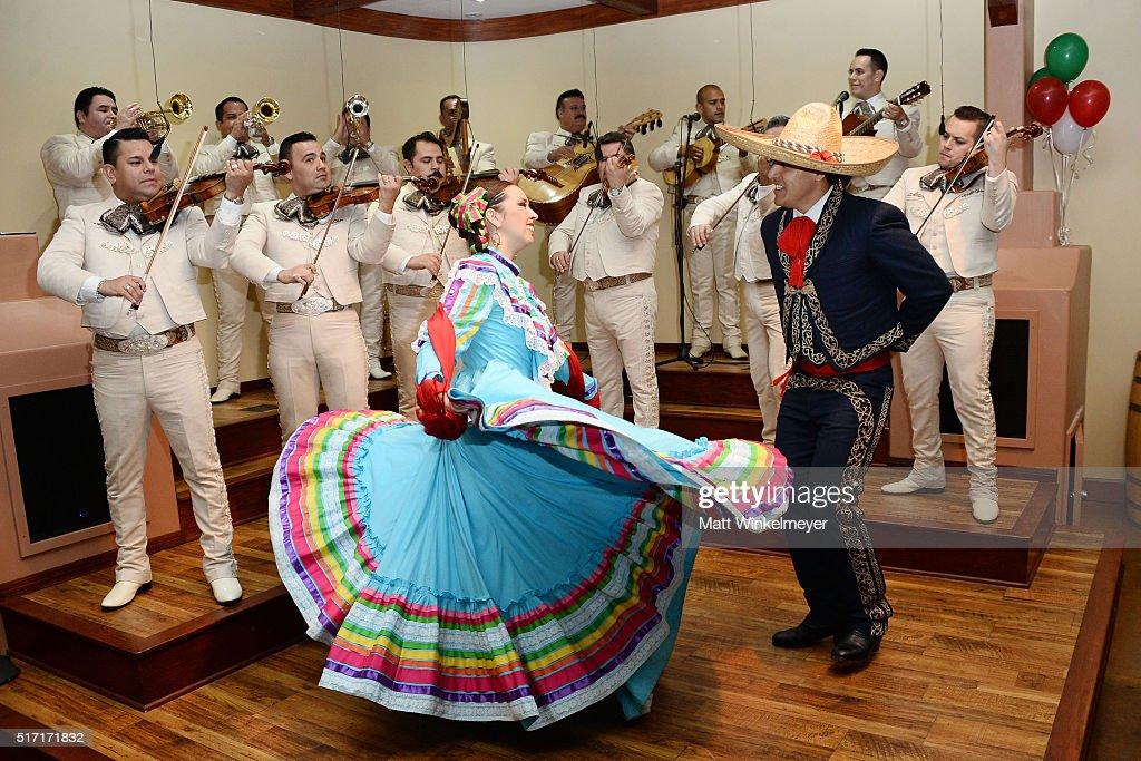 Mariachi Los Camperos Performs At The Grand Reopening Of La Fonda