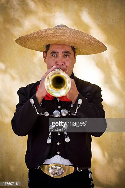 mariachi with trumpet - mariachi stock pictures, royalty-free photos & images