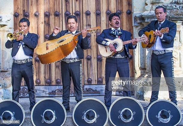 Mariachis perform during Day of the Dead in Oaxaca Mexico