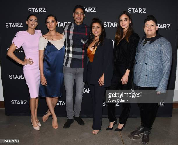 MariaElena Laas Mishel Prada Carlos Miranda Chelsea Rendon Melissa Barrera and Ser Anzoategui attend For Your Consideration Event for Starz's Vida at...