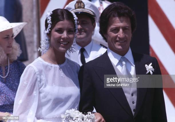 Mariage de Caroline de Monaco et Philippe Junot, le 29 juin 1978 à Monaco.