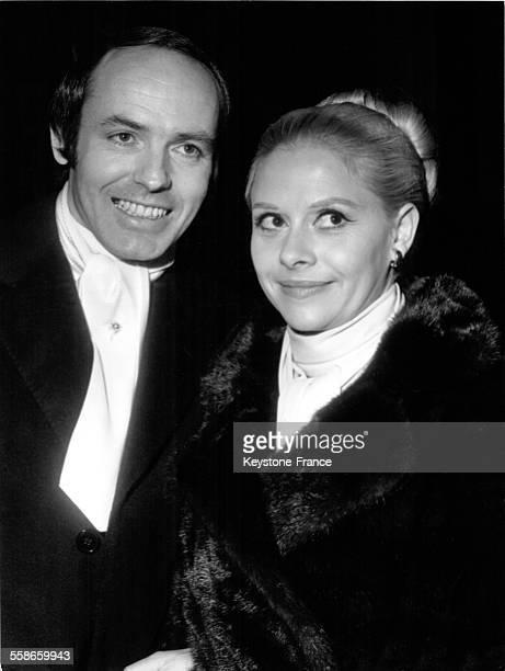 Mariage de Christiane Minazzoli et du producteur de disques Philippe Thomas le 1er décembre 1969 à Paris France