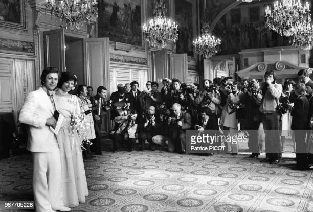 Mariage de Denise Fabre et Francis Vandenhende à Neuilly le 17 avril 1978 France