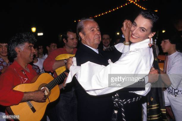 Mariage de Inès de La Fressange avec Luigi d?Urso le 9 juin 1990 à Tarascon, France.