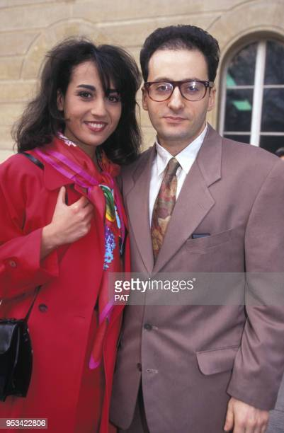 Mariage de Jocya Macias avec Oury Milshtein en février 1992 à Paris, France.